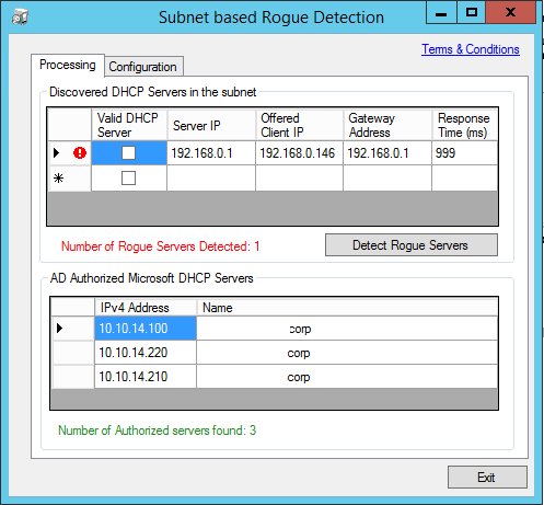 Rouge Checker - Processing Screen - Rogue Server Found