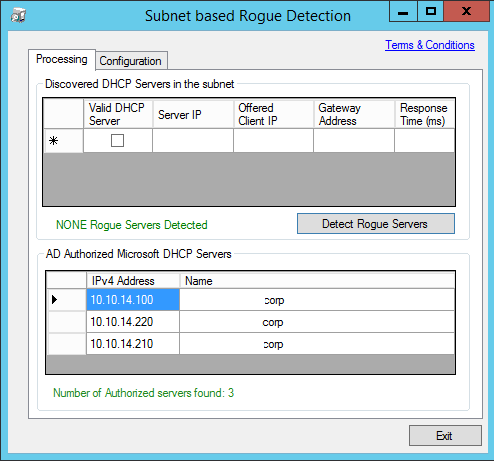 Rouge Checker - Processing Screen - Rogue Server Not Found