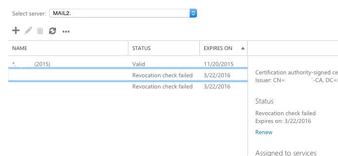 Exchange 2013 Upgrade - Service 'WMSVC' failed to reach status