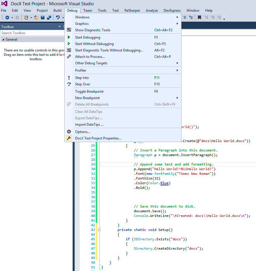 DocX-VisualStudio-HelloWorld-Example12