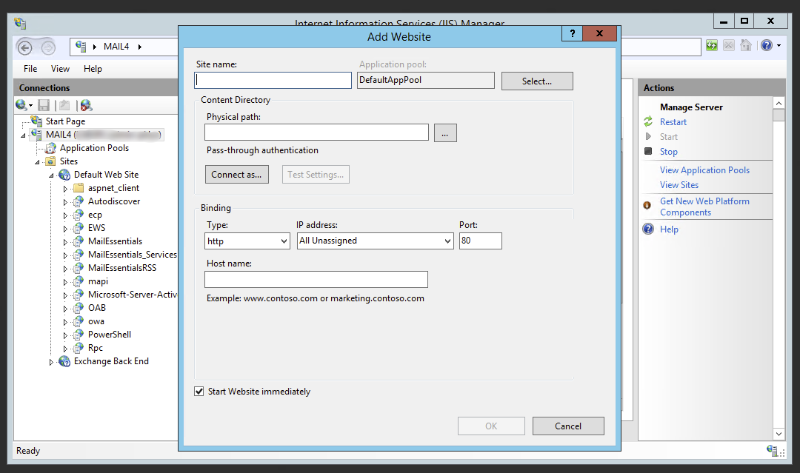 GFI - How to move GFI MailEssentials 20 to different IIS website