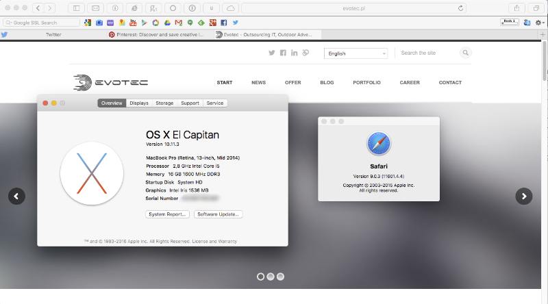 Mac OS X with CosyTabs running thru SIMBL