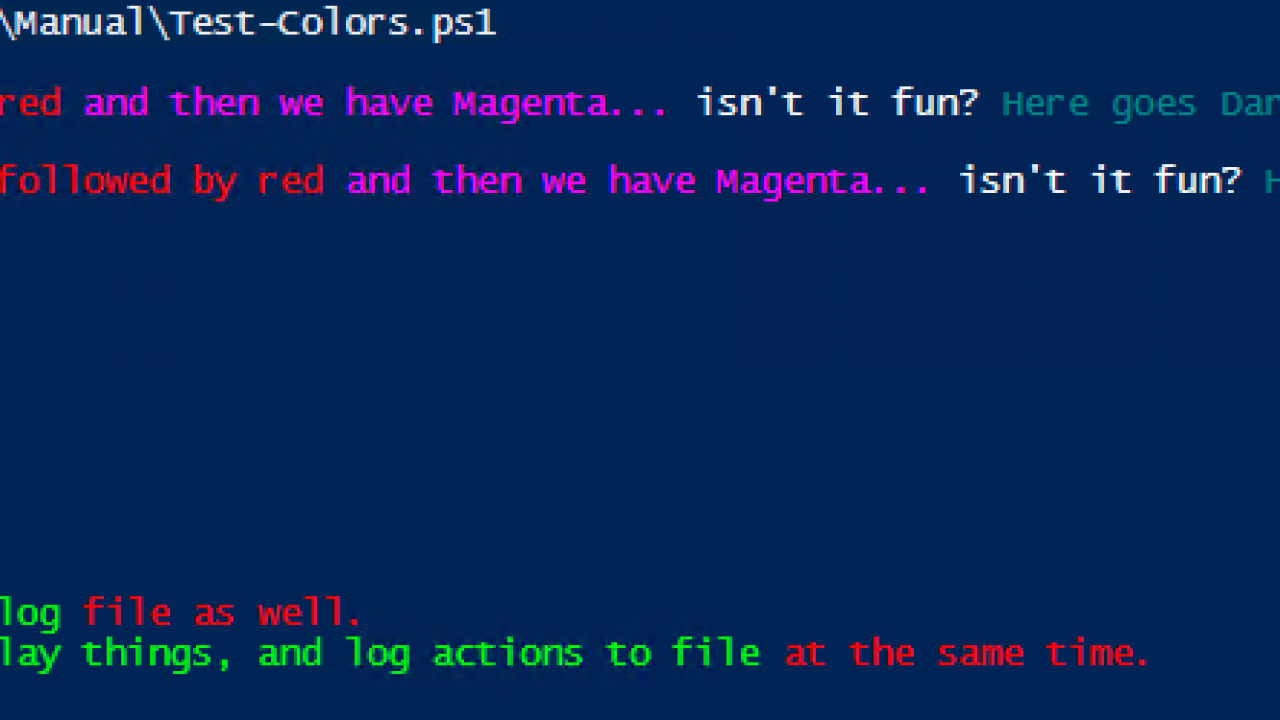 PowerShell - How to format Write-Host with multiple colors