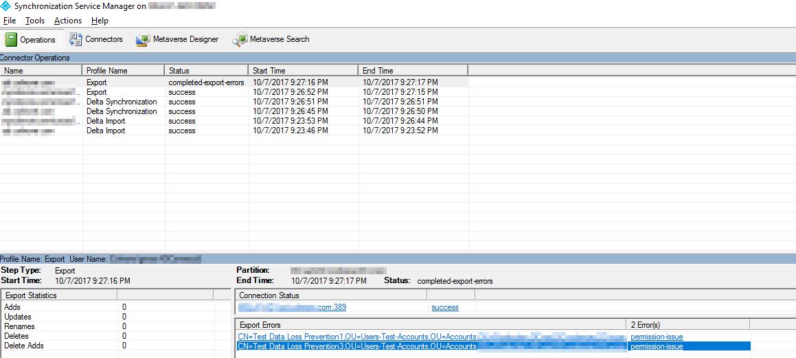 Azure ADConnect Export Failed - Permission-issue error - Evotec