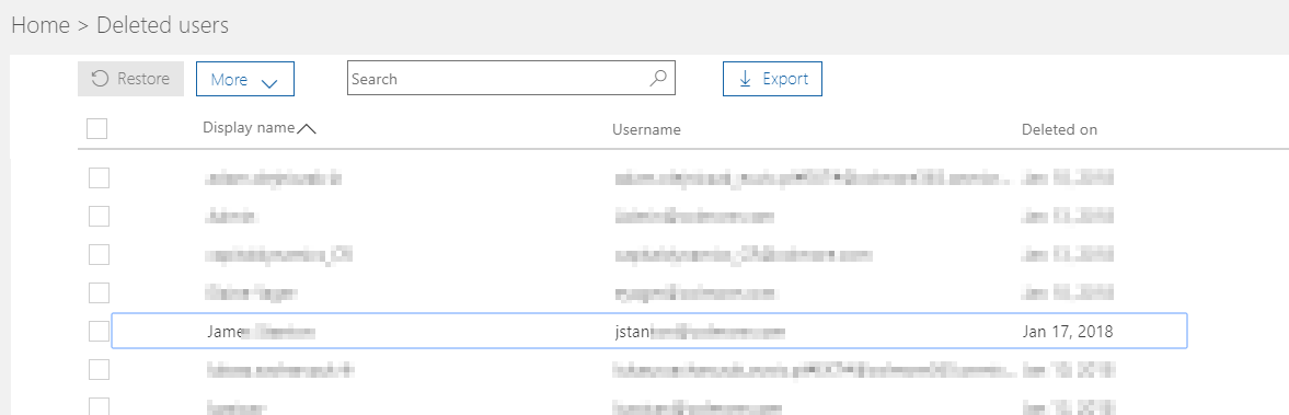 Office 365 - onmicrosoft com address missing from user