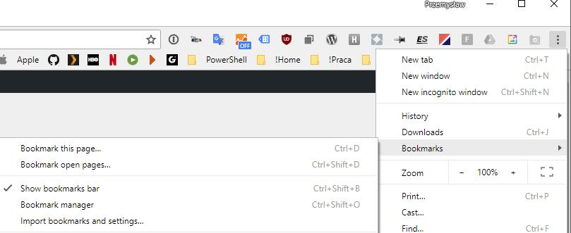 Add Google Chrome mobile bookmarks into Bookmarks Bar - Evotec