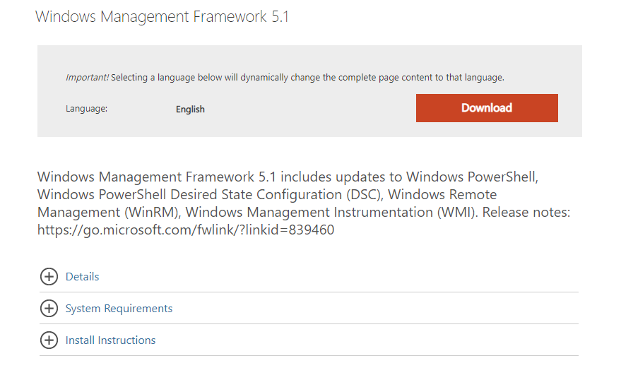 Windows Management Framework 5.1