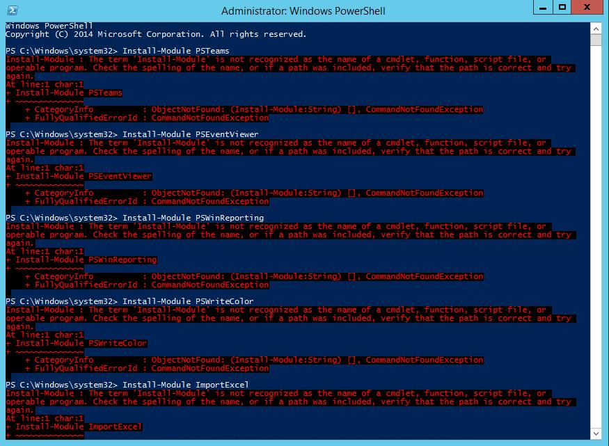 Install-Module Errors