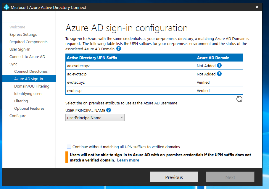 Azure AD Connect - Synchronizing MAIL field with