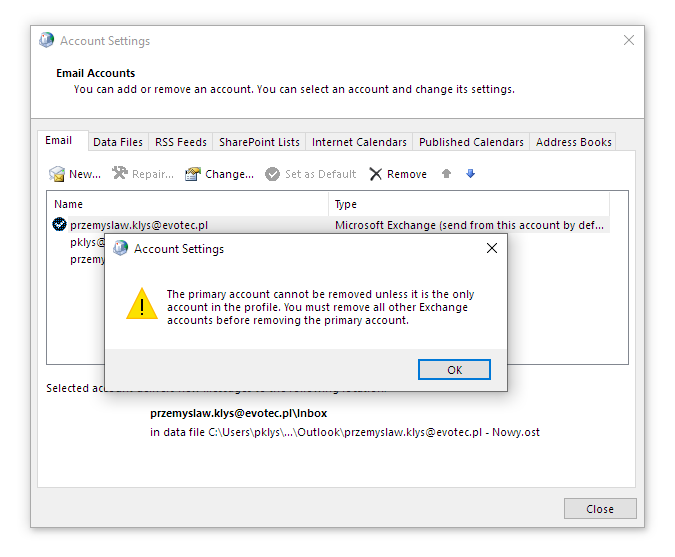 How to change primary email on outlook 365