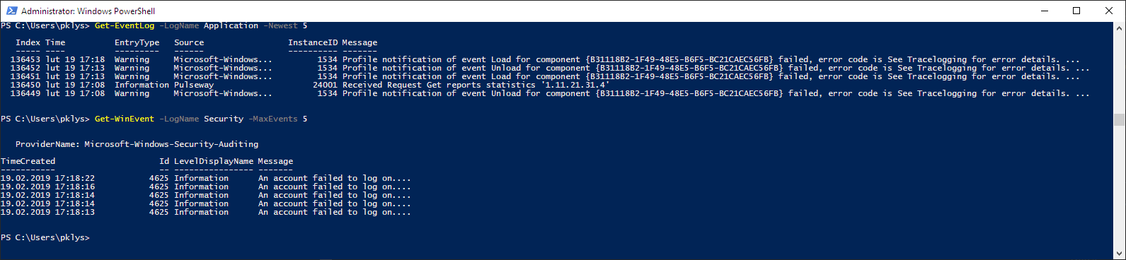 PowerShell - Everything you wanted to know about Event Logs and then