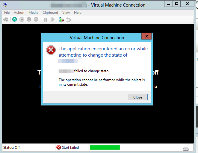 Hyper-V - Can't start Virtual Machine because it's backing up - Evotec