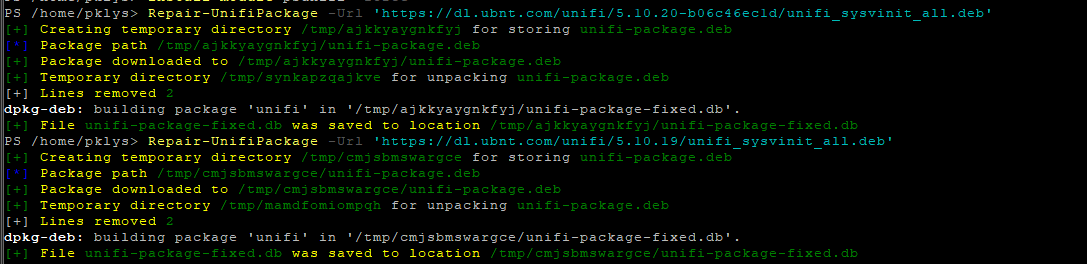 Repair-UnifiPackage
