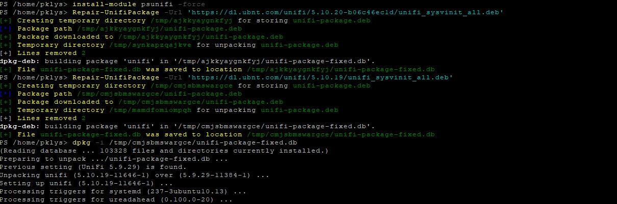 Using PowerShell to fix Ubiquiti Unifi requirement for MongoDB 3 6