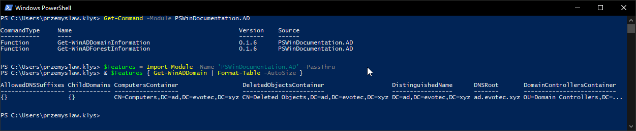 Executing hidden or private functions from PowerShell