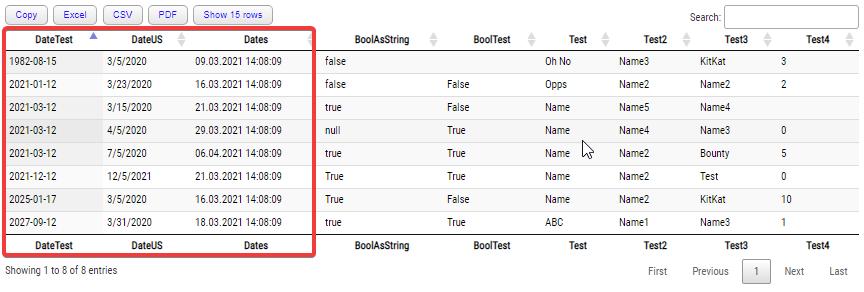Sorting multiple date ranges